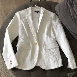 NEW White Blazer with Gold Buttons by Apt 9